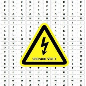 Labels verdeelbord – Set 230V/400V